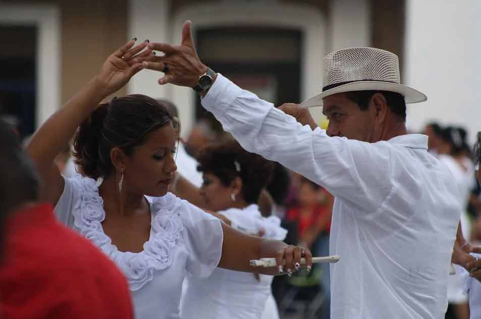 Mexicans doing a traditional dance.