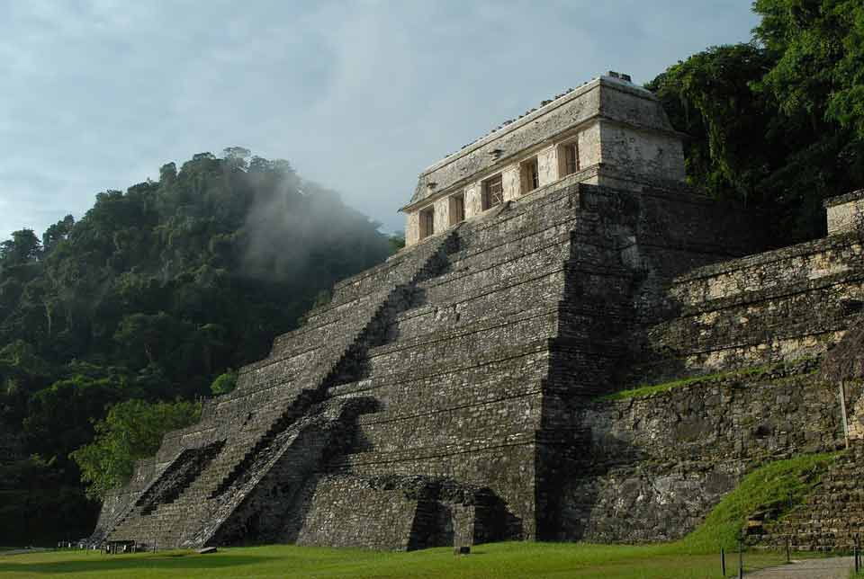An ancient temple in Mexico